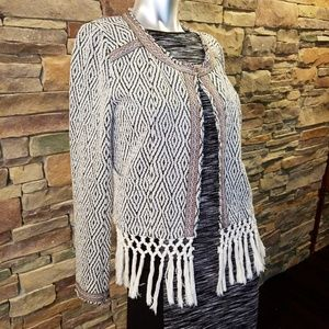 Miss Me Fringed Cardigan Medium
